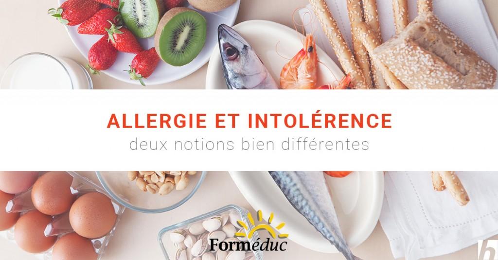 Allergie et intolérance alimentaire, deux notions bien différentes